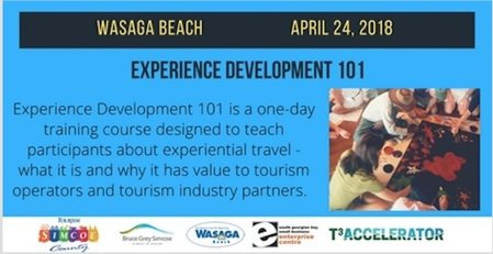 Experience Development 101 Workshop in Wasaga Beach